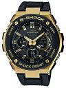 【ポイント2倍!!+全商品送料無料!!】カシオ Gショック Gスチール CASIO G-SHOCK G-STEEL 電波 ソーラー 電波時計 メンズ アナデジ 腕時計 ブラック ゴールド GST-W1