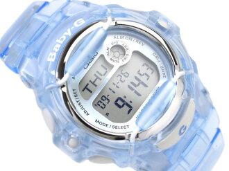 Casio baby G foreign countries monopoly model lady's digital watch blue dial skeleton blue urethane belt BG-169R-2 fs3gm