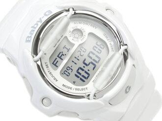 + Casio baby G overseas monopoly model ladies Digital Watch Silver Dial white enamel urethane belt BG-169R-7A