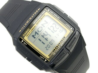 Casio databank overseas monopoly model unisex digital watch black / gold urethane belt DB-36-9AVDF
