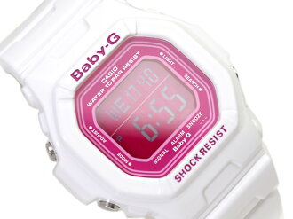 Casio baby G foreign countries model digital watch Candy Colors candy colors pink dial enamel white urethane BG-5601-7 fs3gm