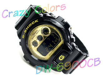 Casio reimport model G-shock crazy colors black x Gold enamel urethane belt DW-6900CB-1