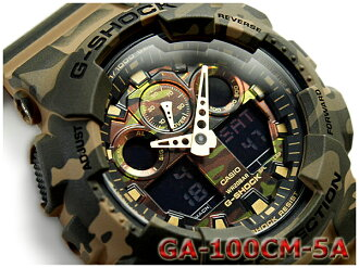 G shock 6600 g-shock Casio CASIO limited model camouflage series Camouflage Series reimport foreign models an analog-digital Watch Gold Green Khaki woodland Camoflage GA-100CM-5AER GA-100CM-5A