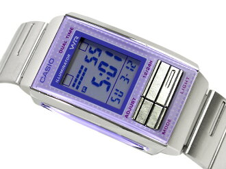 + Casio overseas model Futurist ladies digital watch light Purple / Purple light purple dial-LA-201W-6A
