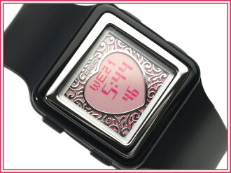 Casio Japan not released for overseas models ポップトーン ladies digital watch pink LCD black urethane belt LDF-21-1 A
