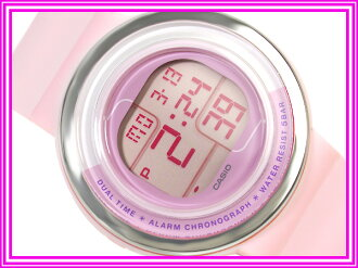 Casio Japan not released for overseas models ポップトーン ladies watch pink penetration color white urethane belt LDF-30-4 A