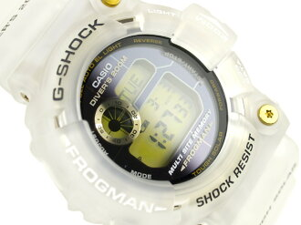 Casio reimport G-shock Frogman ソーラース scuba diving watch black x Gold Dial ホワイトハーフスケルトン urethane belt GW-225E-7
