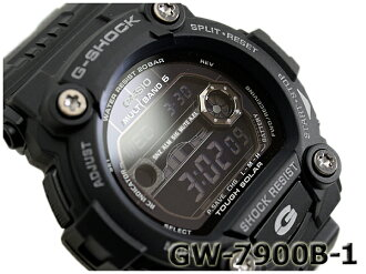 "Casio ""G shock wave solar digital watch-all black GW-7900B-1"
