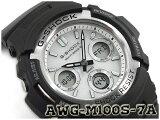 【ポイント2倍!+送料無料!】G-SHOCK Gショック 逆輸入海外モデル CASIO カシオ アナデジ 電波 ソーラー 腕時計 ホワイト ブラック AWG-M100S-7AER AWG-M100S-7A