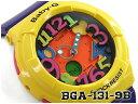 【ポイント2倍!!+全商品送料無料!!】CASIO BABY-G Crazy Neon Series クレイジーネオンシリーズ 逆輸入海外モデル カシオ ベビーG アナデジ 腕時計 イエロー パープル