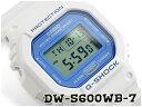 【ポイント2倍!!+全商品送料無料!!】G-SHOCK Gショック ジーショック 逆輸入海外モデル カシオ CASIO デジタル 腕時計 ホワイト ライトブルー DW-5600WB-7CR DW-5600WB-7