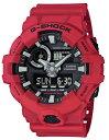 G-SHOCK Gショック ジーショック カシオ CASIO アナデジ 腕時計 ブラック レッド GA-700-4AJF【国内正規モデル】