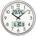 CASIO CLOCK カシオ クロック 壁掛け時計 電波 温度 湿度計 シルバー ITM-650J-8JF 国内正規品