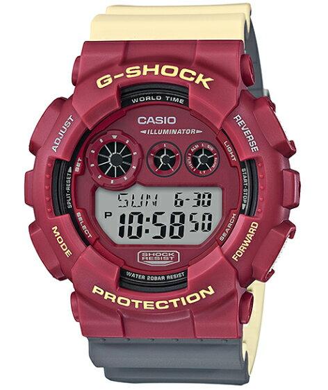 G-SHOCK Gショック ジーショック NO Comply ノーコンプライ MAROK マーロック カシオ CASIO ワールドタイム デジタル 腕時計 レッド ベージュ グレー GD-120NC-4JF【国内正規モデル】【あす楽】
