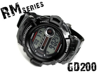 "+ CASIO g-shock Casio ""G shock RM series digital watch black グラスファイバーインサートバンド GD-200-1DR"