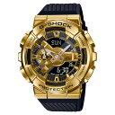 G-SHOCK GM-110G-1A9 Metal Covered アナデジ メンズ 腕時計 ブラック ゴールド CASIO カシオ Gショック ジーショック 逆輸入海外モデル
