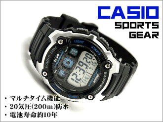 CASIO Casio reimport foreign model SPORTS GEAR sports gear mens digital watch black × blue urethane belt AE-2000W-1AVDF