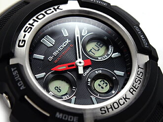 Casio reimport G shock international model solar radio an analog-digital watch black urethane belt AWG-M100-1ADR