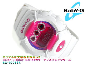 CASIO Casio baby G baby-g Color color play series digital watch Pink White BG-1006SA-7ADR