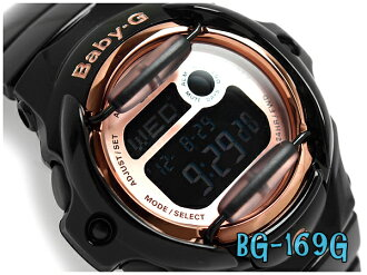 Casio baby G overseas imports model pink series digital ladies watch black × pink BG-169G-1DR