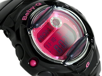 + CASIO baby-g Casio baby G Color Display Series color monitor digital watch pink black BG-169R-1BDR