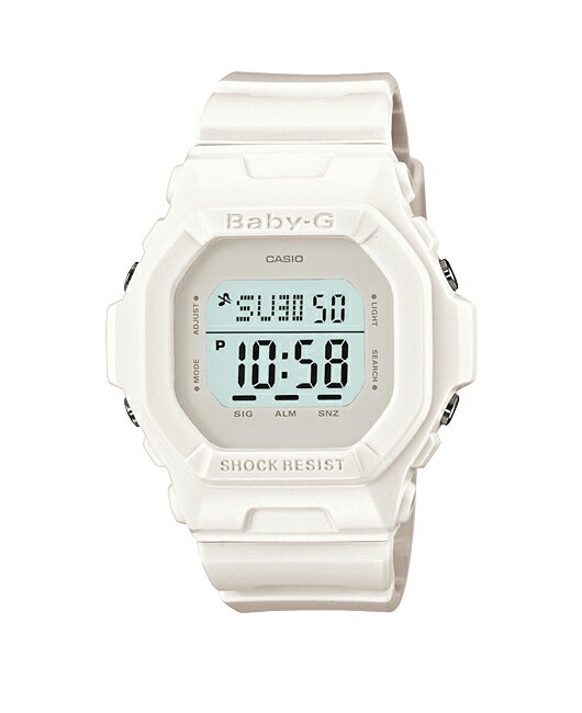 + Casio baby G watches baby g baby-g ベビージー BASIC series Basic Solid Colors ソリッドカラーズ digital white BG-5606-7JF