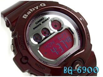 Baby G Baby-G Casio CASIO baby-g ベビージーデジタル watch metallic silver dial pink Bordeaux BG-6900-4JF fs3gm