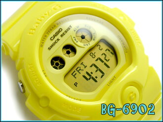 Casio baby G ladies digital watch Energetic Colors エナジェティックカラーズ-all yellow urethane belt BG-6902-9JF