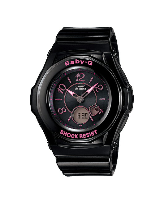 + Casio baby G watches Tripper Tripper radio solar an analog-digital black pink BGA-1030-1B2JF