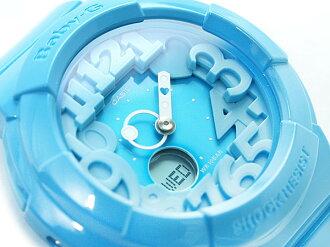 Casio baby G neon dial series an analog-digital watch aqua blue BGA-130-2BDR