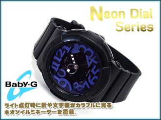 + Casio baby G neon dial series an analog-digital watch black × purple BGA-134-1BDR