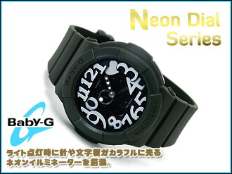 + Casio baby G neon dial series an analog-digital watch Khaki Black White BGA-134-3BDR