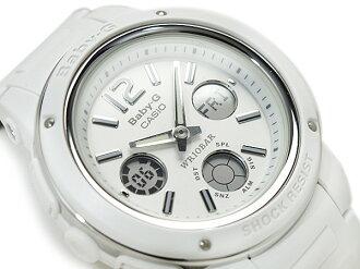 Casio baby G imports international model ladies digital watch White Dial white urethane belt BGA-150-7BDR