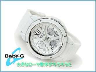 + Casio baby G imports overseas model レディースアナデジ watch White Dial white urethane belt BGA-152-7B1DR