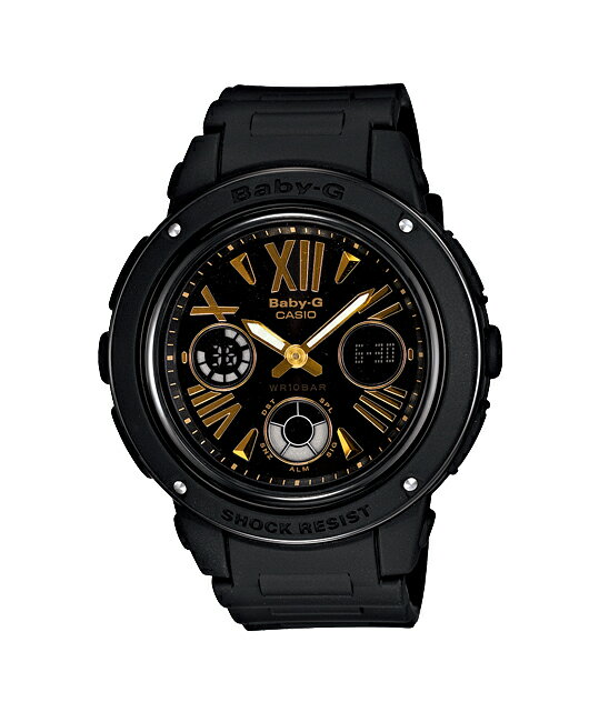 + Casio baby G watches baby g baby-g ベビージー Big Case series is an analog-digital black BGA-153-1BJF