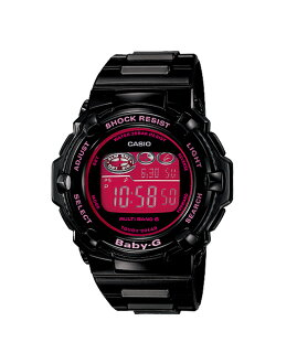 + Casio baby G watches Tripper Tripper radio solar pink black BGR-3003-1BJF