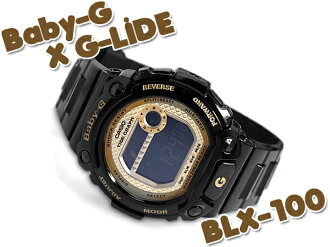 CASIO baby-g Casio baby G G-LIDE G ride color play series baby-g digital watch black gold BLX-100-1CDR