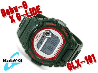 CASIO Casio BABY-G baby G watch G-LIDE G ride red khaki green BLX-101-3DR
