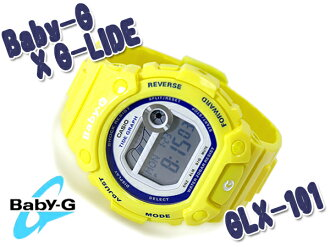 CASIO Casio BABY-G baby G watch G-LIDE G ride blue yellow BLX-101-9DR fs3gm