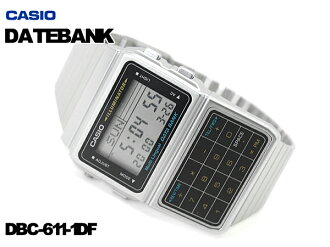 + CASIO DATABANK Casio databank calculator features digital watch imports overseas model silver black DBC-611-1DF DBC-611-1