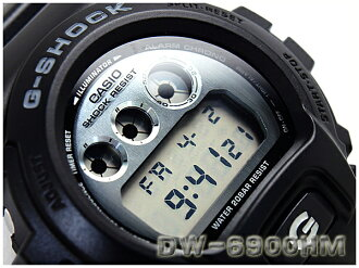 + CASIO g-shock Casio reimport G shock overseas model metallic dial series Watch Black / Silver DW-6900HM-1DR