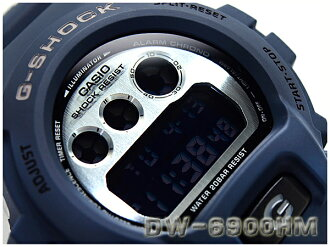 + Model G shock, CASIO g-shock Casio imports of overseas metallic dial series watch Navy x silver DW-6900HM-2DR