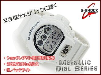 CASIO G-SHOCK Casio reimportation G-Shock foreign countries model metallic dial series watch white X silver DW-6900MR-7DR fs3gm