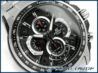 Casio overseas model edifice analog chronograph men's Watch Black stainless steel belt EF-560D-1AVDF
