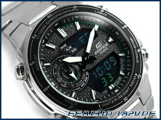+ Unreleased Casio Japan overseas model edifice an analog-digital chronograph men's watch grey carbon dial green stainless steel belt EFA-131D-1 A2VDF