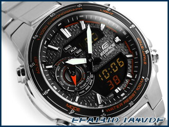 + Unreleased Casio Japan overseas model edifice an analog-digital chronograph men's watch grey carbon dial Orange stainless steel belt EFA-131D-1 A4VDF