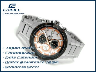 + Foreign models not released Casio Japan edifice analog chronograph mens watch rose gold × EFR-519D-7AVDF White Dial stainless steel belt