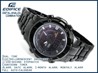 + CASIO EDIFICE Casio edifice an analog-digital men's watch-all black EFX-700BB-1AVDF EFX-700BB-1