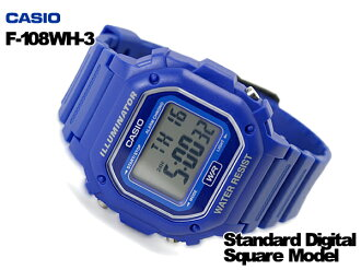 + CASIO Casio reimport foreign model standard digital watch blue F-108WH-2ACF f-108WH-2