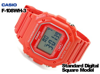 CASIO Casio reimport foreign model standard digital Watch Red F-108WH-4ACF f-108WH-4